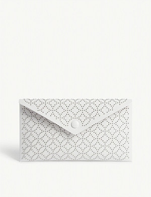 AZZEDINE ALAIA Louise leather clutch bag