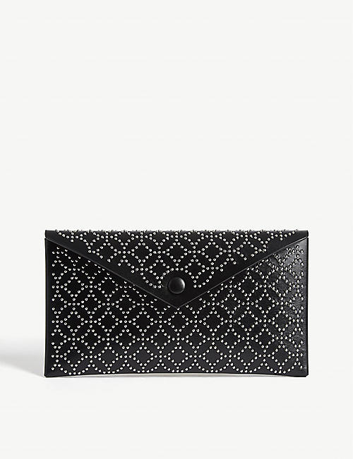 AZZEDINE ALAIA: Louise leather clutch bag