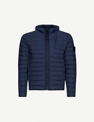 STONE ISLAND Hooded padded shell-down jacket
