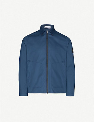 STONE ISLAND: Relaxed-fit cotton-twill jacket