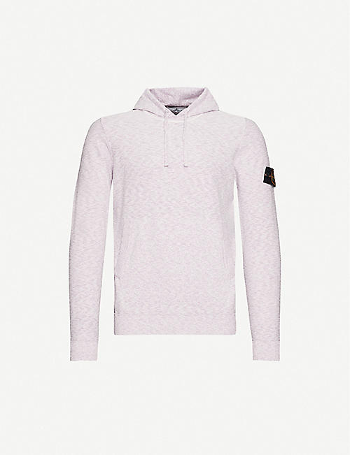 STONE ISLAND Logo-patch cotton-blend hoody