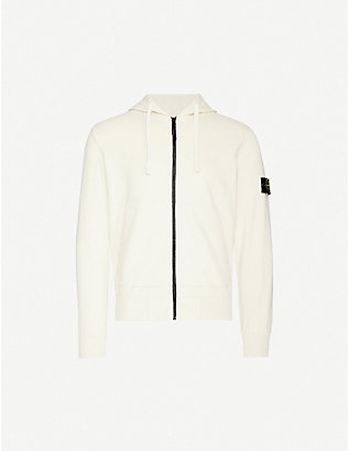 STONE ISLAND: Relaxed-fit cotton-jersey drawstring hoody
