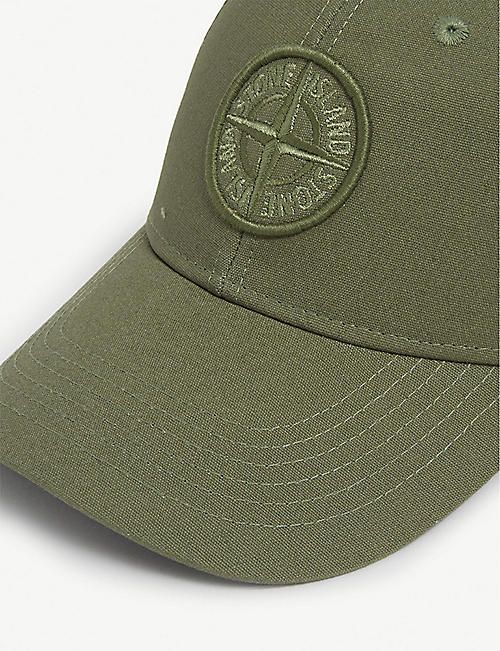 STONE ISLAND Embroidered logo baseball cap
