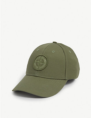 STONE ISLAND: Embroidered logo baseball cap