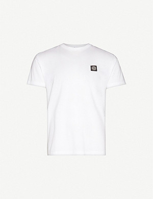 STONE ISLAND Logo-patch cotton-jersey T-shirt