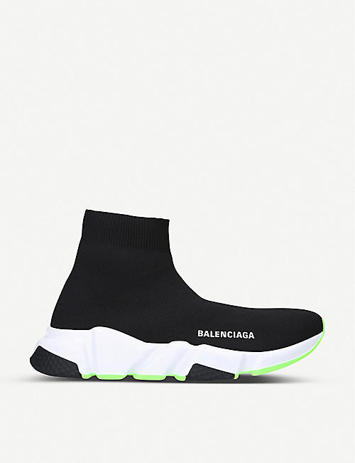 BALENCIAGA Speed slip-on knitted mid-top trainers