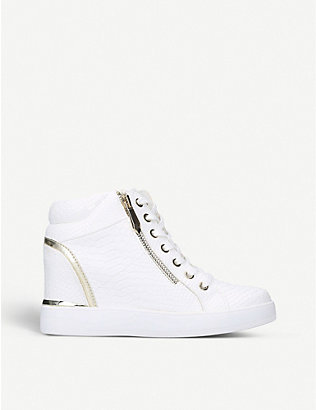 ALDO: Ailanna crocodile-embossed faux-leather trainers
