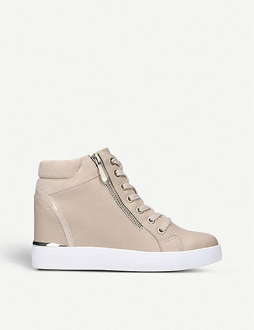 ALDO: Ailanna high-top faux-suede trainers