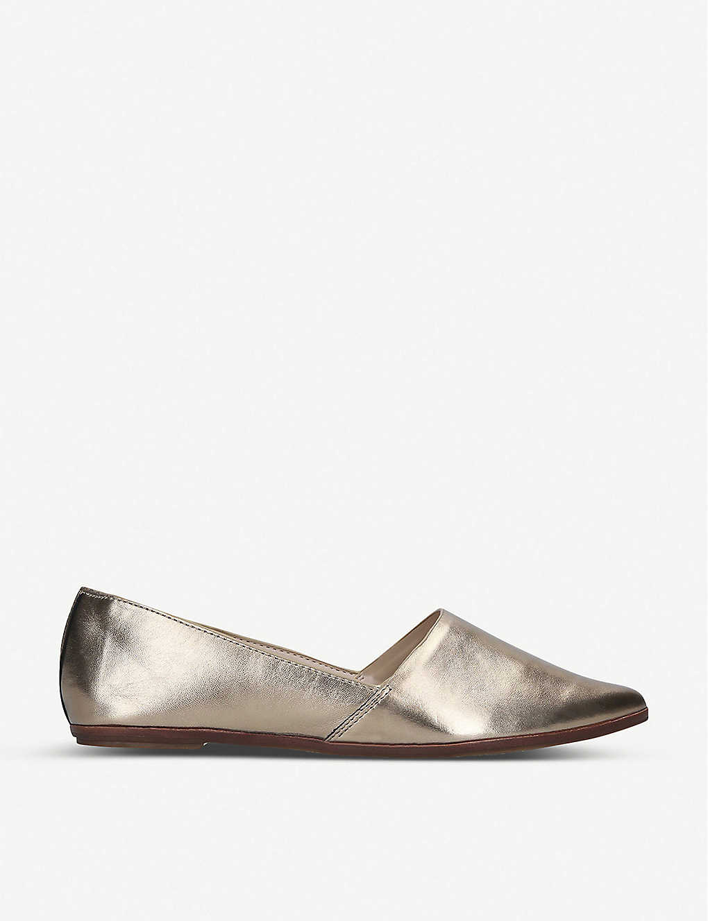 ALDO: Blanchette metallic leather ballet flats
