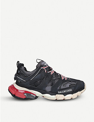 BALENCIAGA: Track.2 panelled mesh, nylon and woven trainers