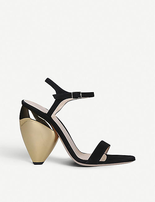 GIANVITO ROSSI: Ball 105 suede heeled sandals
