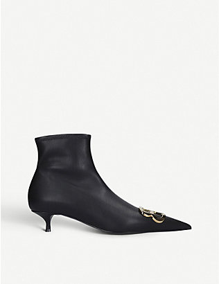 BALENCIAGA: BB 40 leather ankle boots