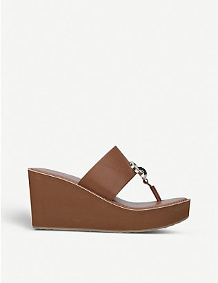 ALDO: Dreamer faux-leather wedge sandals