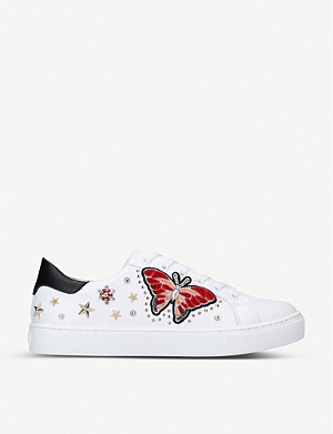 ALDO Mariposa embellished leather trainers