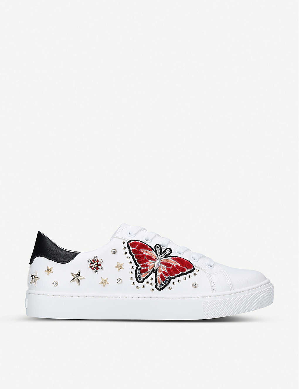 ALDO: Mariposa embellished leather trainers