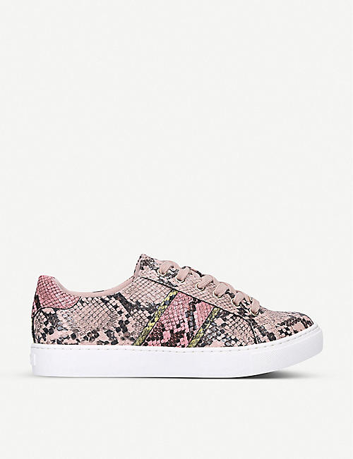 ALDO: Strelley crocodile-embossed faux-leather trainers