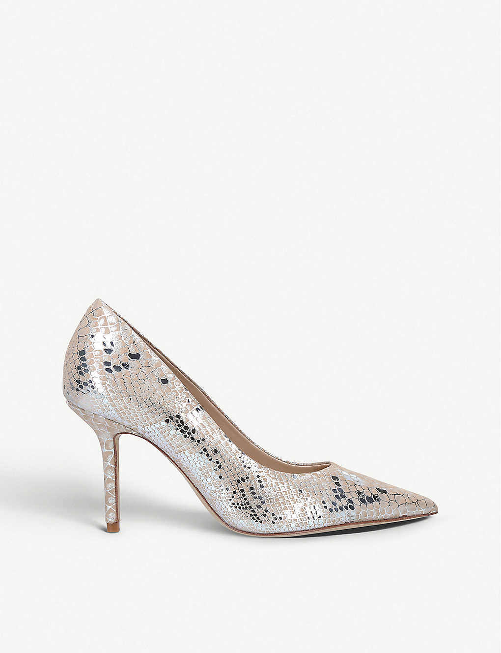 ALDO: Laurie snakeskin-print patent leather courts