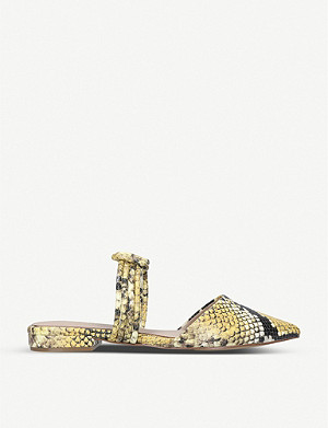 ALDO Knottie snakeskin-print leather sandals