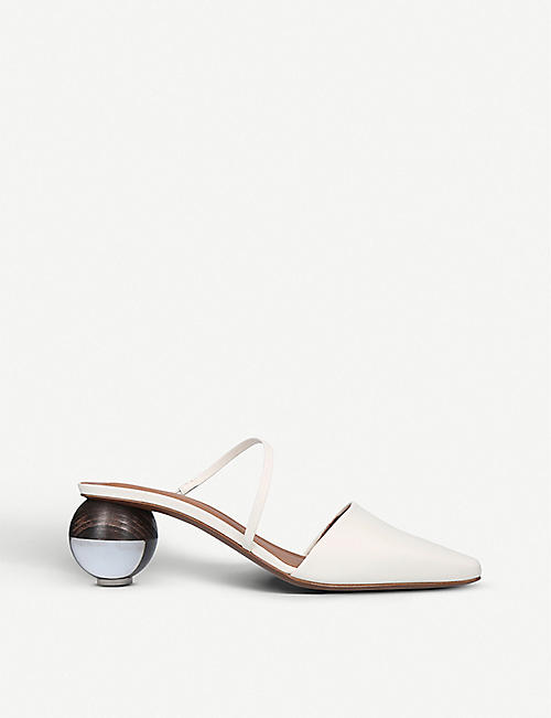 NEOUS Loda leather spherical-heeled mules