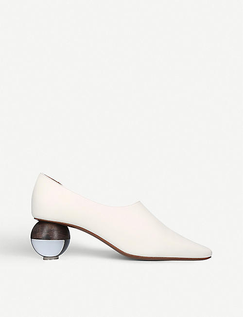 NEOUS: Orchis leather spherical-heeled pumps