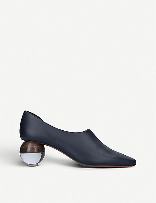 NEOUS Orchis leather spherical-heeled pumps