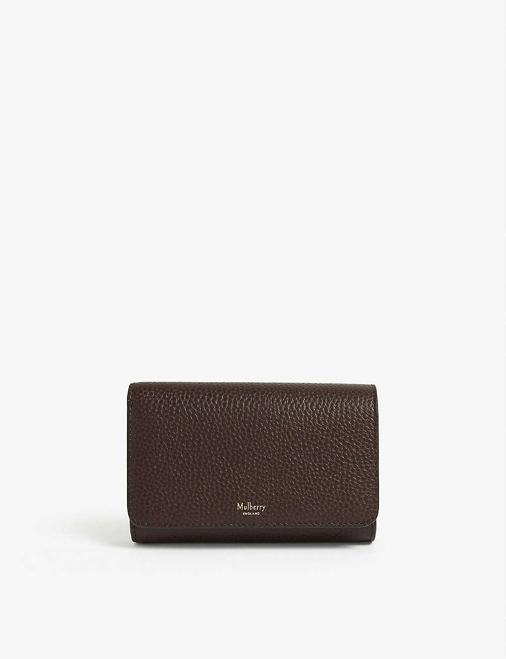 MULBERRY: French medium grained-leather continental wallet