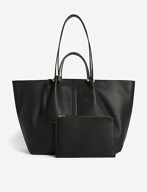 ALLSAINTS: Allington East West leather medium tote bag