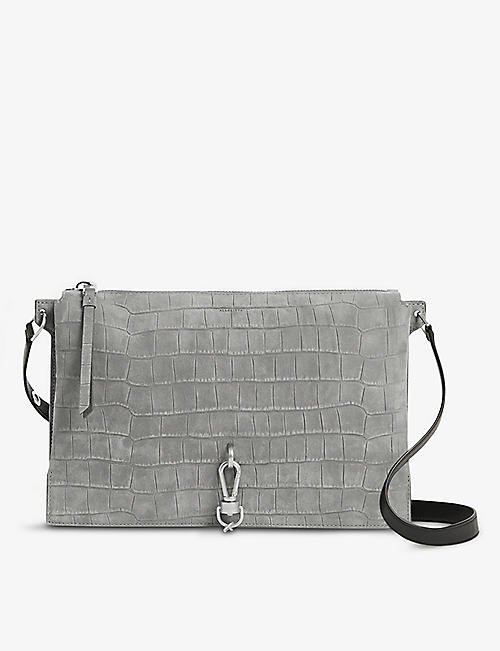 ALLSAINTS: Sheringham suede shoulder bag