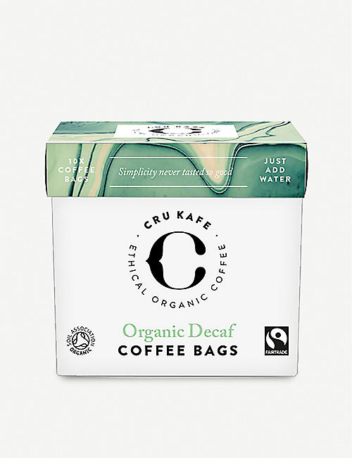 CRU KAFE: Orgnic Fairtrade decaf coffee bags 75g