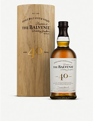 BALVENIE: The Balvenie 40-year-old single malt Scotch whisky 700ml