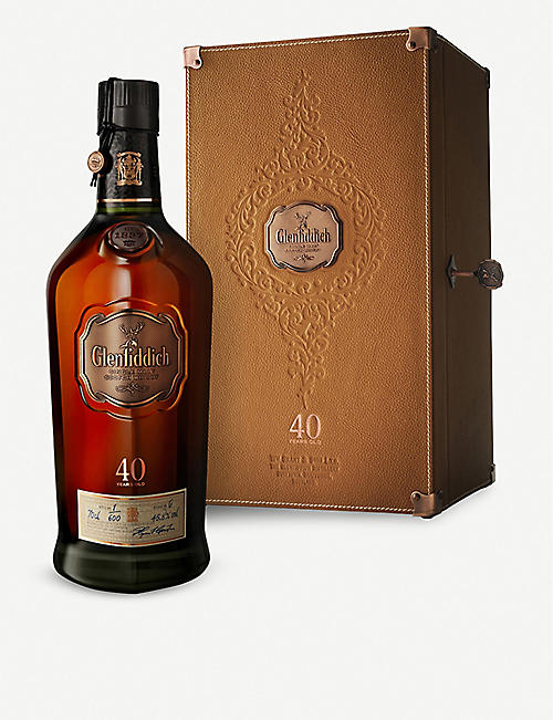 GLENFIDDICH: Glenfiddich 40-year-old single malt Scotch whisky 700ml