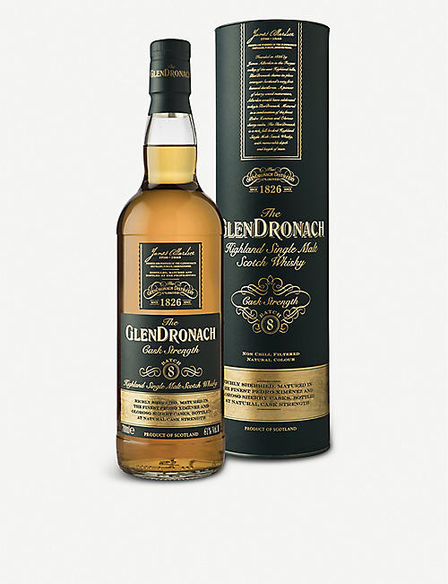 HIGHLAND: Glendronach Cask Strength Highland single malt Scotch whisky 700ml