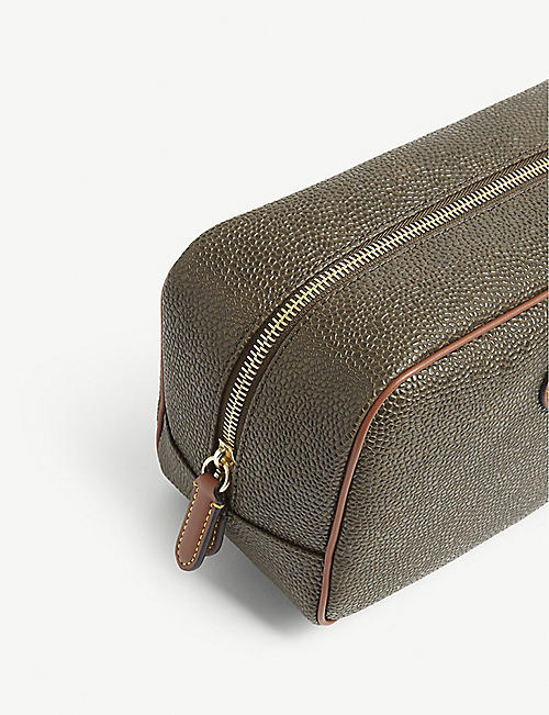 MULBERRY Water-resistant Scotchgrain wash bag
