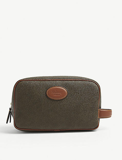 MULBERRY: Water-resistant Scotchgrain wash bag
