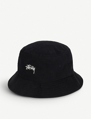 STUSSY Logo-print canvas bucket hat