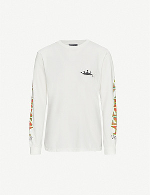 STUSSY Irie printed cotton-jersey top