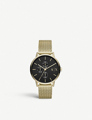 ARMANI EXCHANGE AX2715 gold-plated stainless steel watch