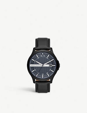 ARMANI EXCHANGE AX2411 Hampton stainless steel and leather watch