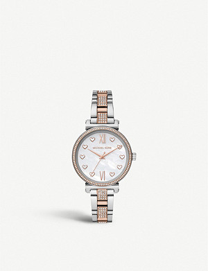 MICHAEL KORS Rose-gold plated stainless steel watch