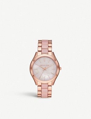 MICHAEL KORS Rose-gold-plated stainless-steel watch