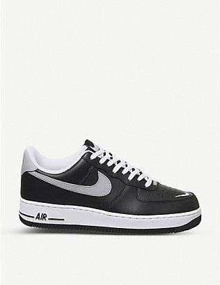 NIKE: Air Force 1 LV8 low-top leather and textile trainers