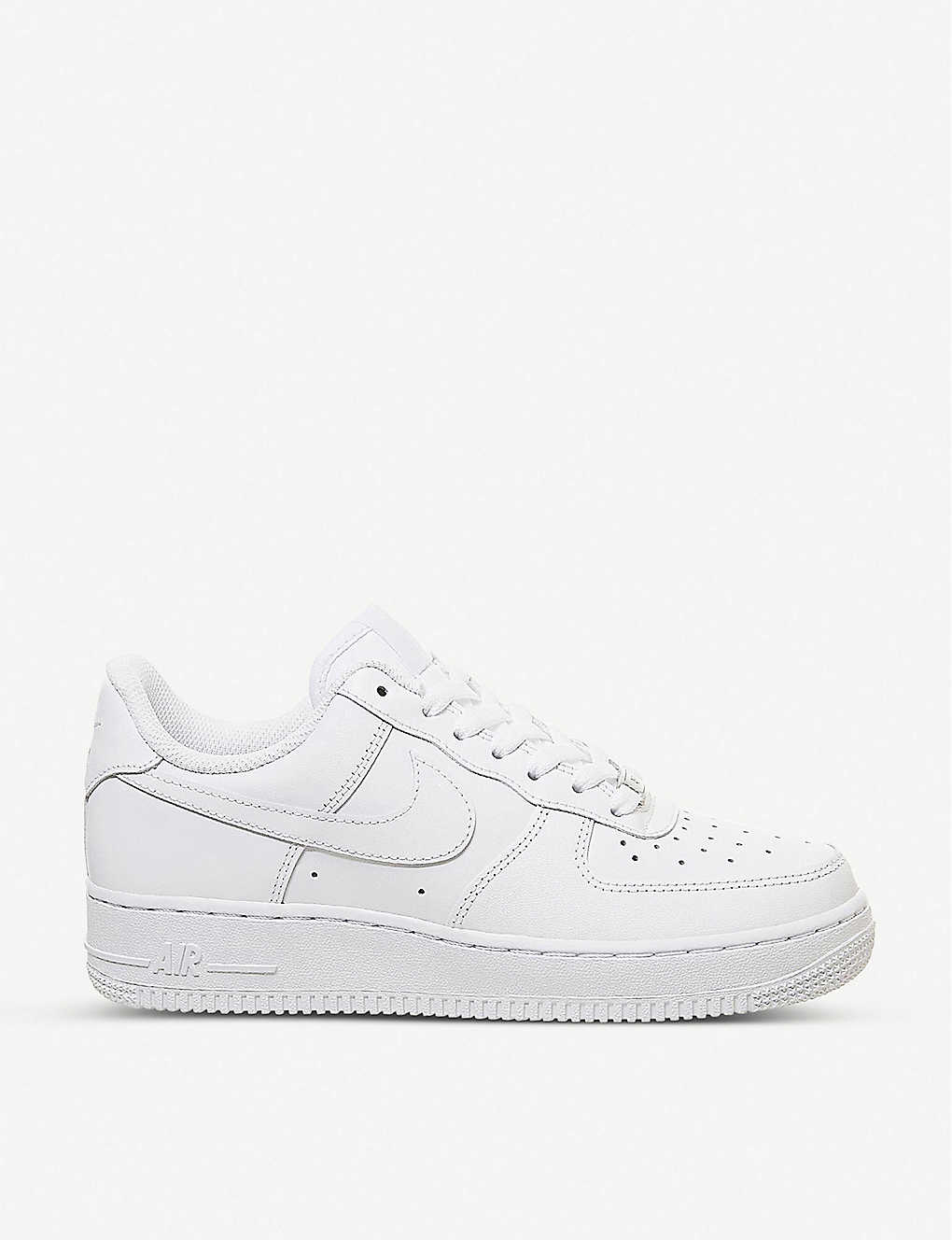 NIKE: Air Force 1 07 leather trainers