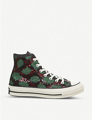 CONVERSE: All Star Hi 70's sequin high-top trainers