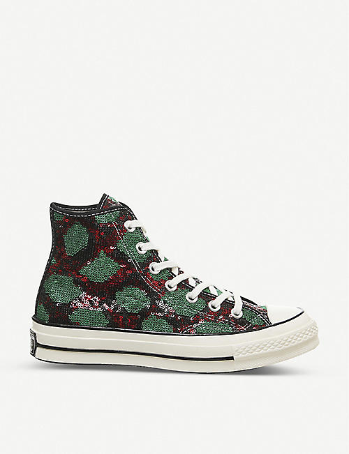 CONVERSE All Star Hi 70's sequin high-top trainers