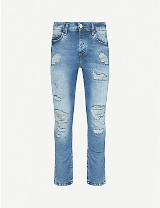 TRUE RELIGION: Rocco ripped skinny jeans