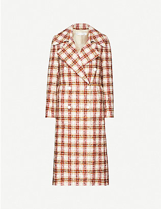 VICTORIA BECKHAM: Martingale check twill coat
