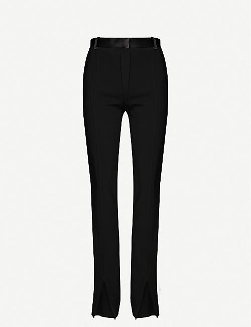 VICTORIA BECKHAM Split-front slim-fit high-rise woven trousers