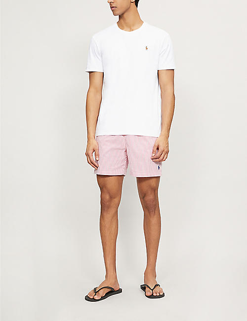 POLO RALPH LAUREN Traveller seersucker-print swim shorts