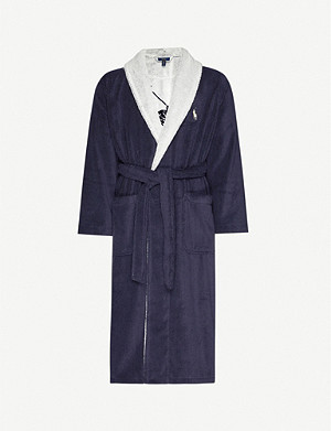 POLO RALPH LAUREN Logo-embroidered cotton-towelling bathrobe