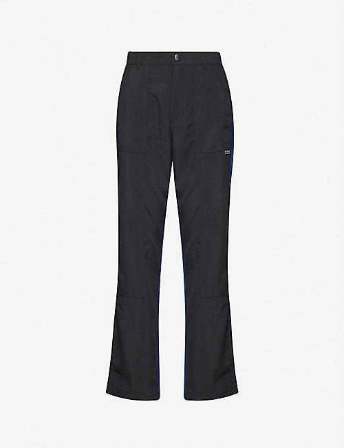 STUSSY Vista side-stripe woven straight-leg trousers